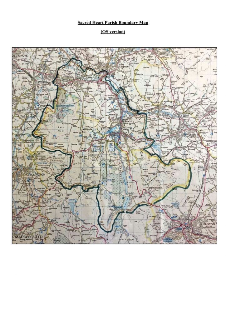 Sacred Heart Parish Boundary Map
